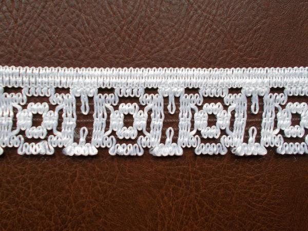 Spitze H: 5 cm weiß